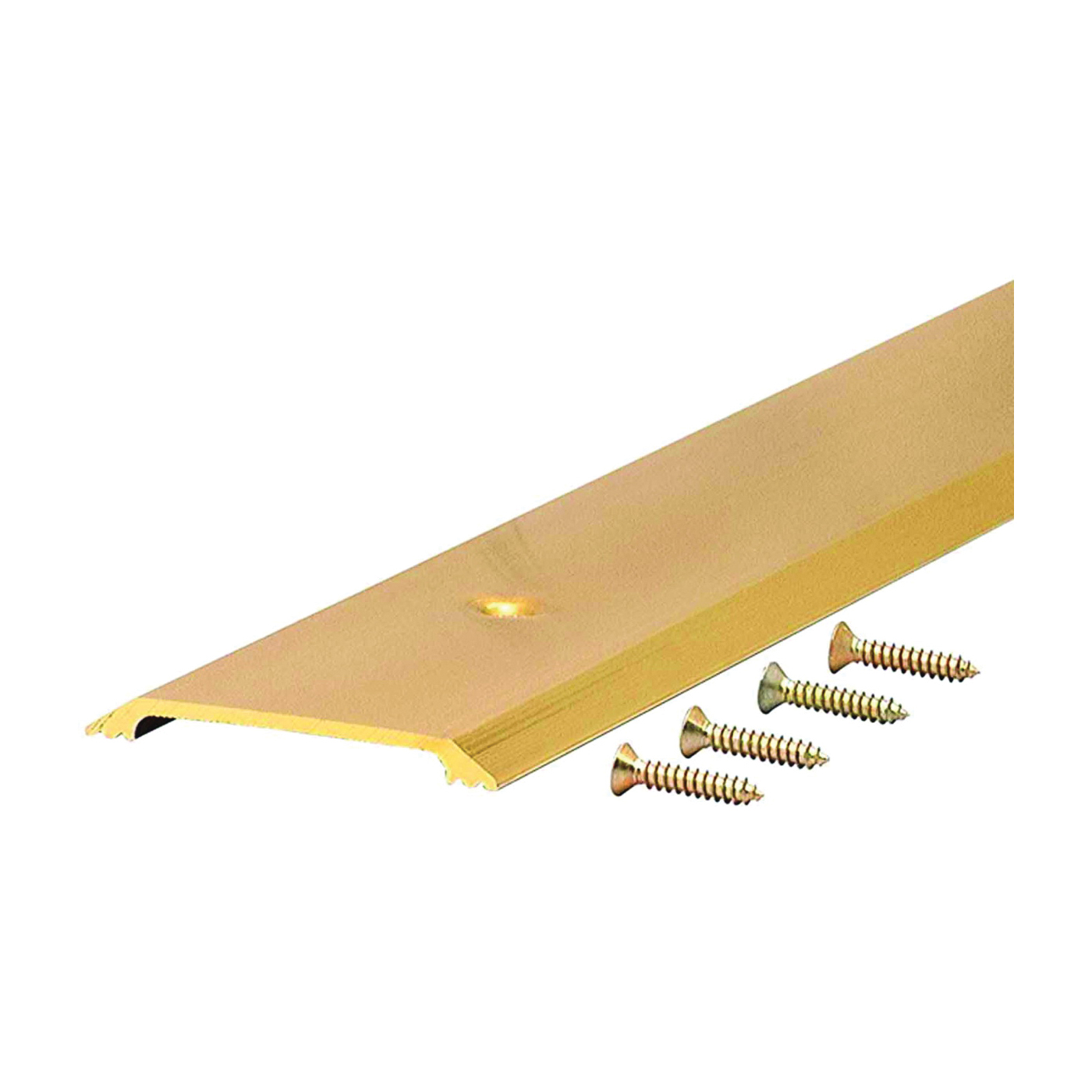 Picture of M-D 09613 Saddle Threshold, 36 in L, 2-1/2 in W, Aluminum, Bright Gold