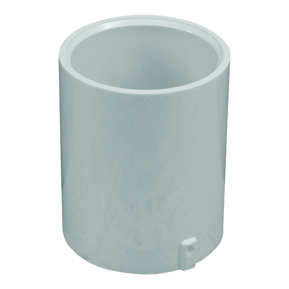 Picture of GENOVA 300 Series E30114 Extended Pipe Coupler, 1-1/4 in, Slip Joint, White, SCH 40 Schedule, 370 psi Pressure