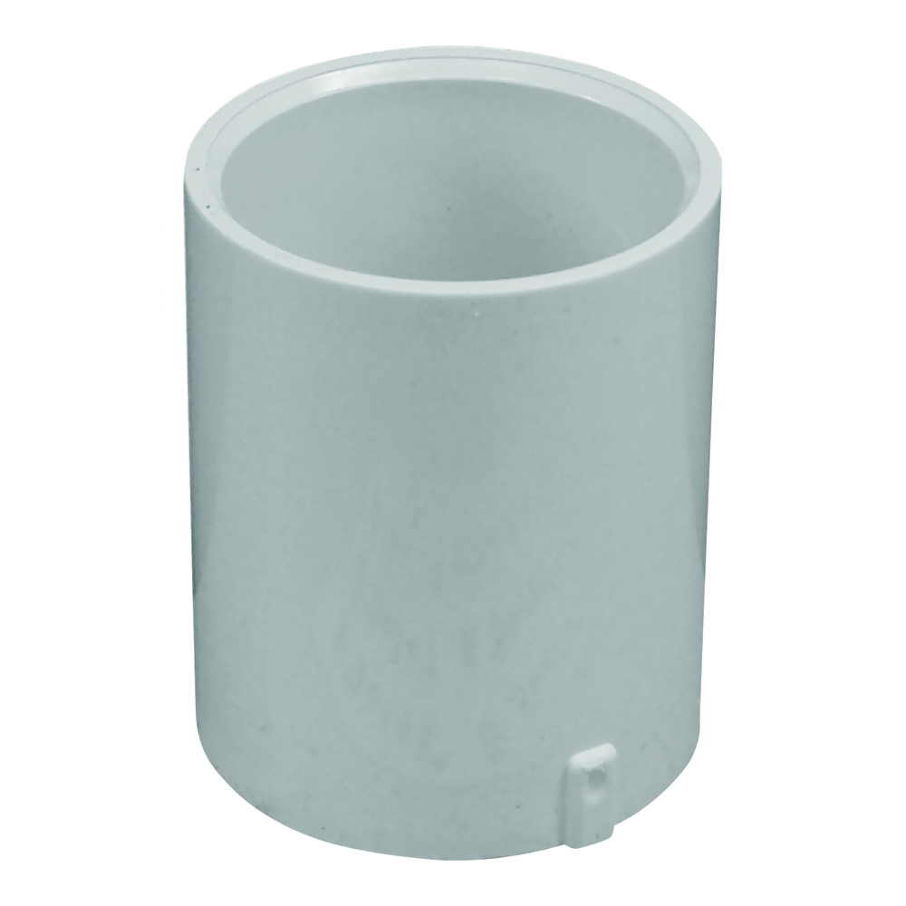 Picture of GENOVA 300 Series E30115 Extended Pipe Coupler, 1-1/2 in, Slip Joint, White, SCH 40 Schedule, 330 psi Pressure
