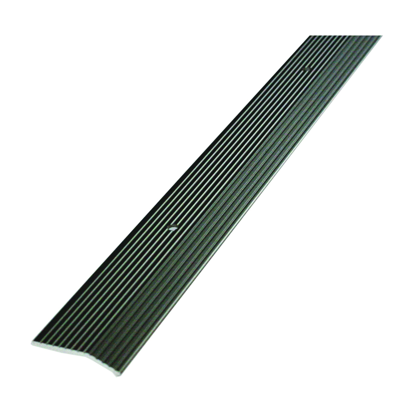Picture of M-D 43854 Carpet Trim, 36 in L, 1-3/8 in W, Fluted Surface, Aluminum, Pewter