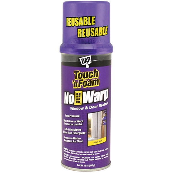Picture of Touch 'n Foam No Warp 7565004000 Window and Door Sealant, White, 12 oz Package