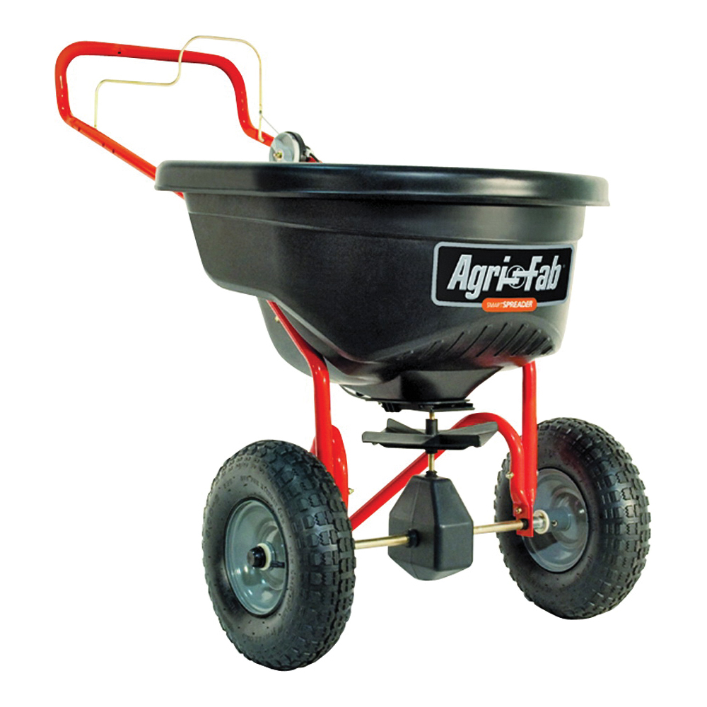 Picture of AGRI-FAB 45-0462 Broadcast Spreader, 25,000 sq-ft Coverage Area, 12 ft W Spread, 130 lb Capacity, Poly Hopper