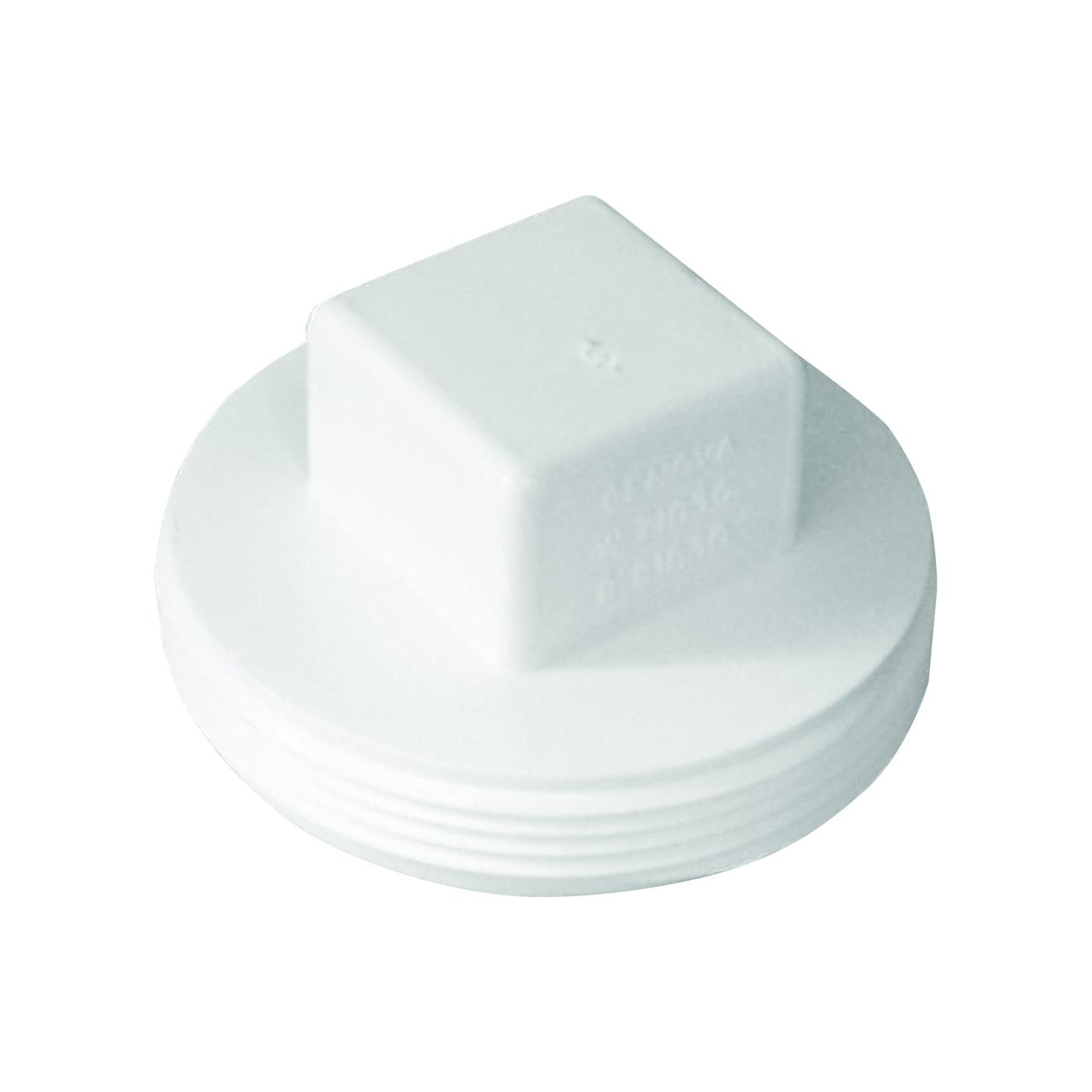 Picture of GENOVA 41840 Pipe Plug, 4 in, MIP, PVC, White