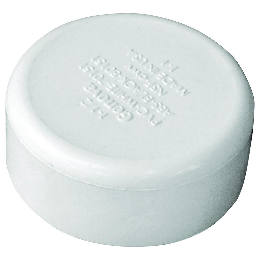 Picture of GENOVA 70151 Pipe Cap, 1-1/2 in, Hub, PVC, SCH 40 Schedule
