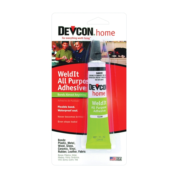 Picture of Devcon 18245 Household Cement, Liquid, Ketone, Clear, 1 oz Package, Tube