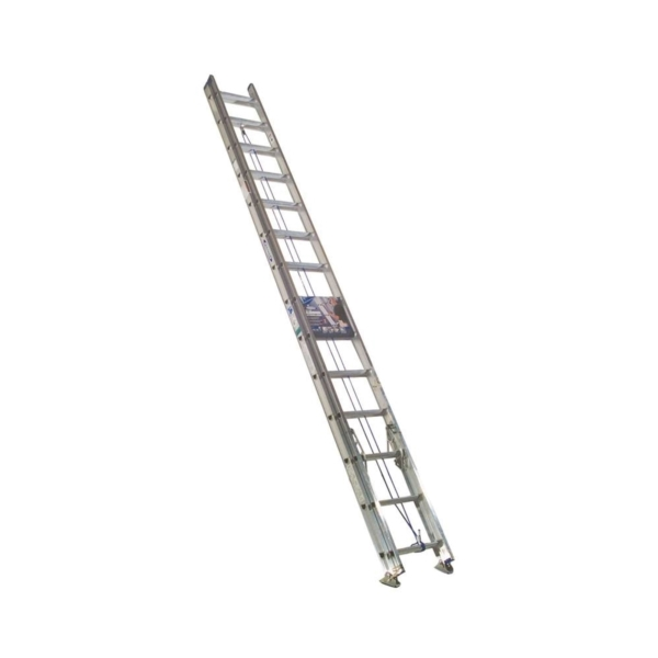 Picture of WERNER D1328-2 Extension Ladder, 27 ft H Reach, 250 lb, Aluminum
