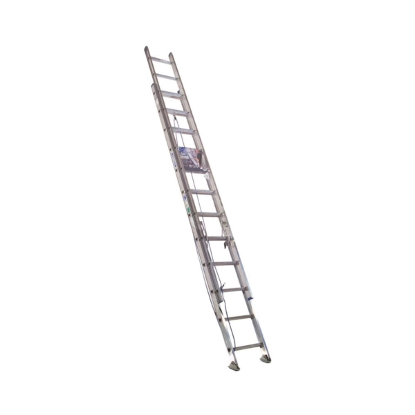 Picture of WERNER D1324-2 Extension Ladder, 23 ft H Reach, 250 lb, Aluminum