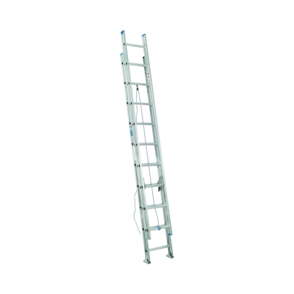 Picture of WERNER D1320-2 Extension Ladder, 19 ft H Reach, 250 lb, Aluminum