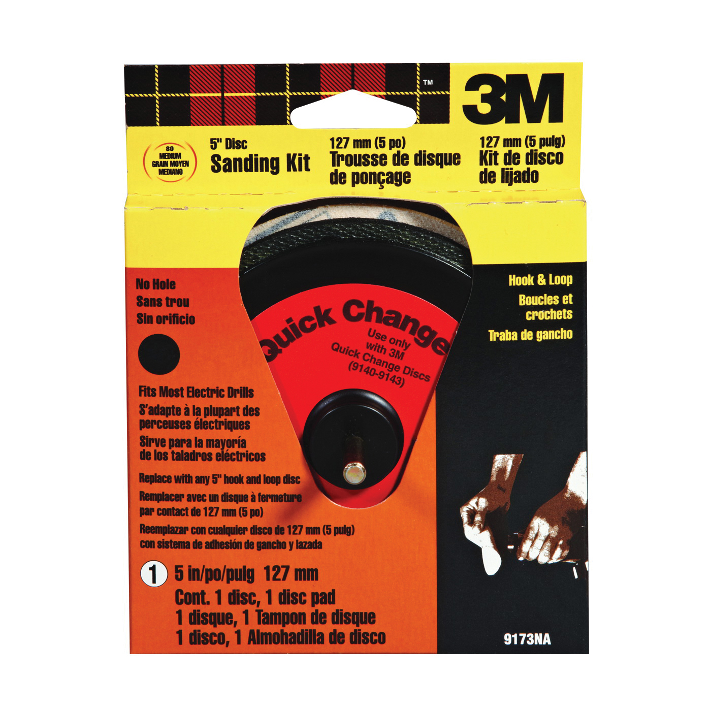 Picture of 3M 9173DC Sanding Disc Kit, 5 in Dia