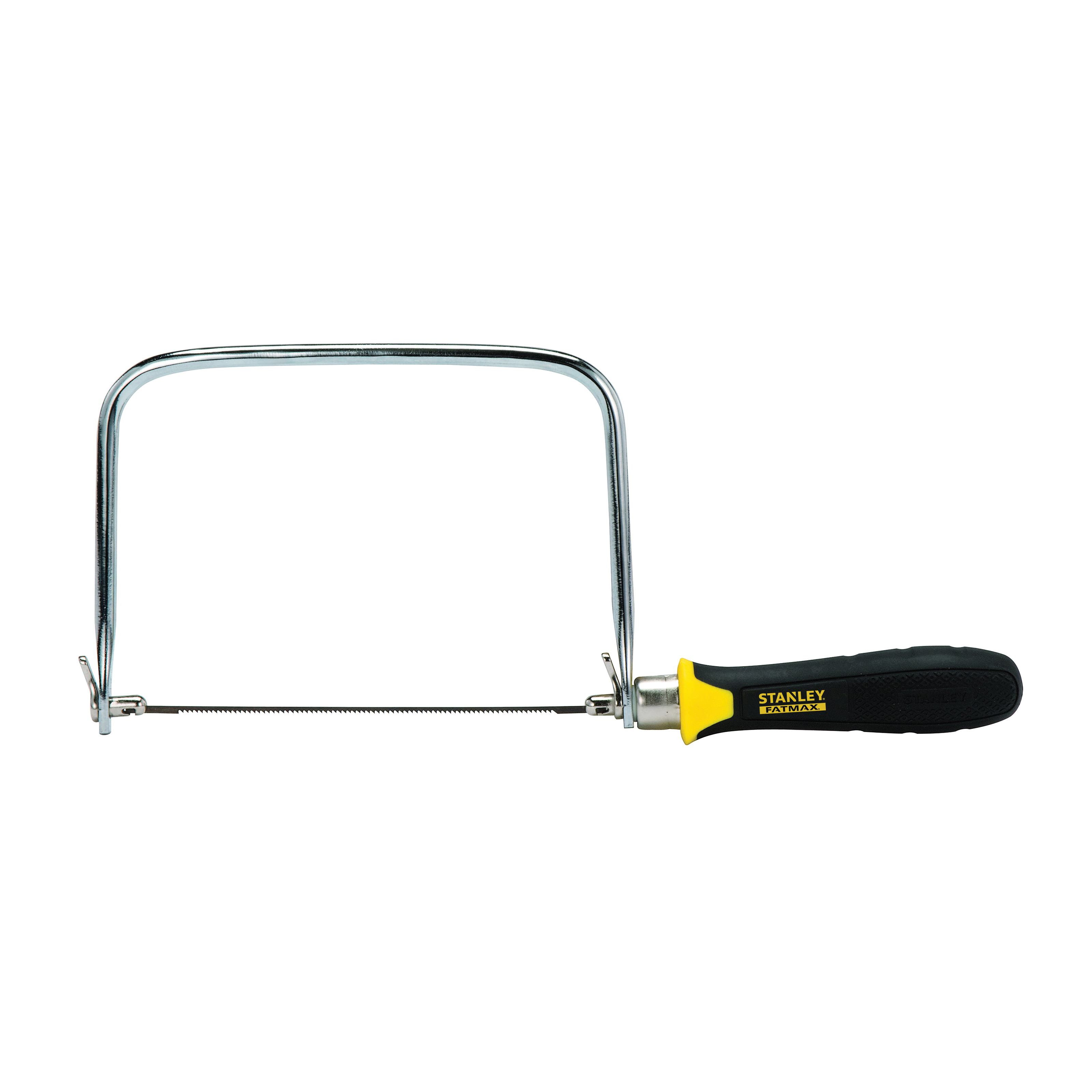 Picture of STANLEY FATMAX 15-104 Coping Saw, 6-1/2 in L Blade, 15 TPI, HCS Blade, Cushion-Grip Handle, Plastic/Rubber Handle