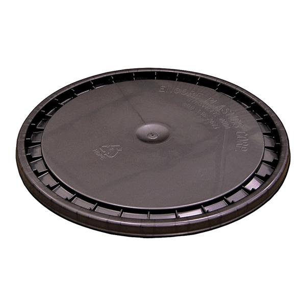 Picture of ENCORE Plastics 53000B Paint Pail Lid, Polyethylene, Black