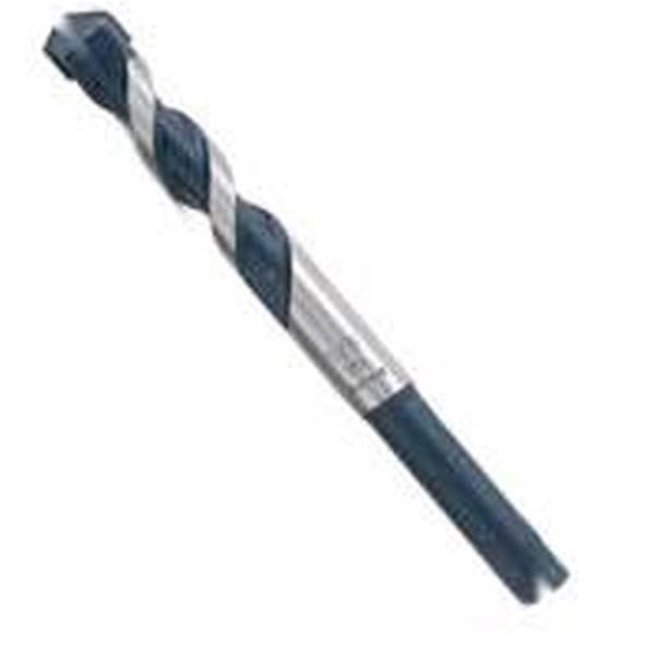 Picture of Bosch BlueGranite Turbo HCBG01T Drill Bit, 1/8 in Dia, 3 in OAL, Hammer Bit, Milled Flute, 2 -Flute, Hex Shank