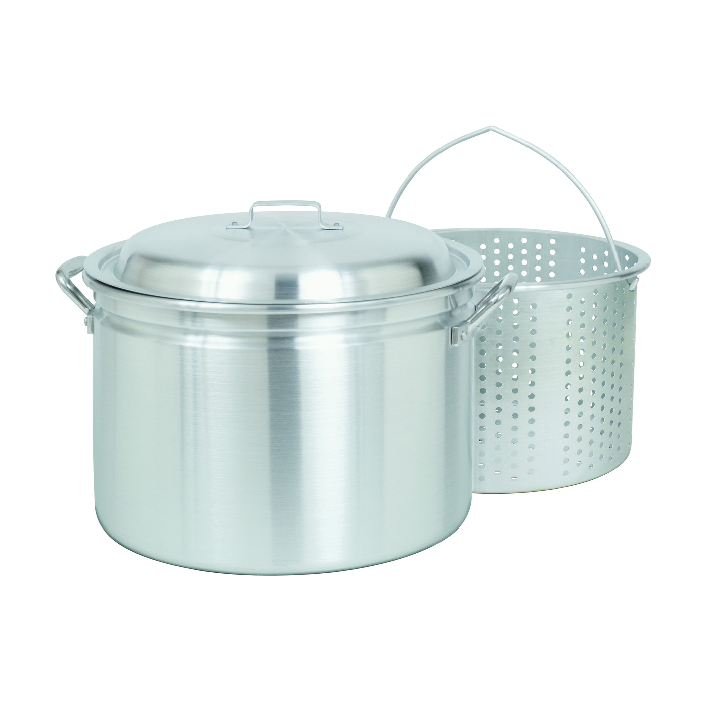 Picture of Bayou Classic 4024 Stock Pot with Basket, 24 qt Capacity, Aluminum