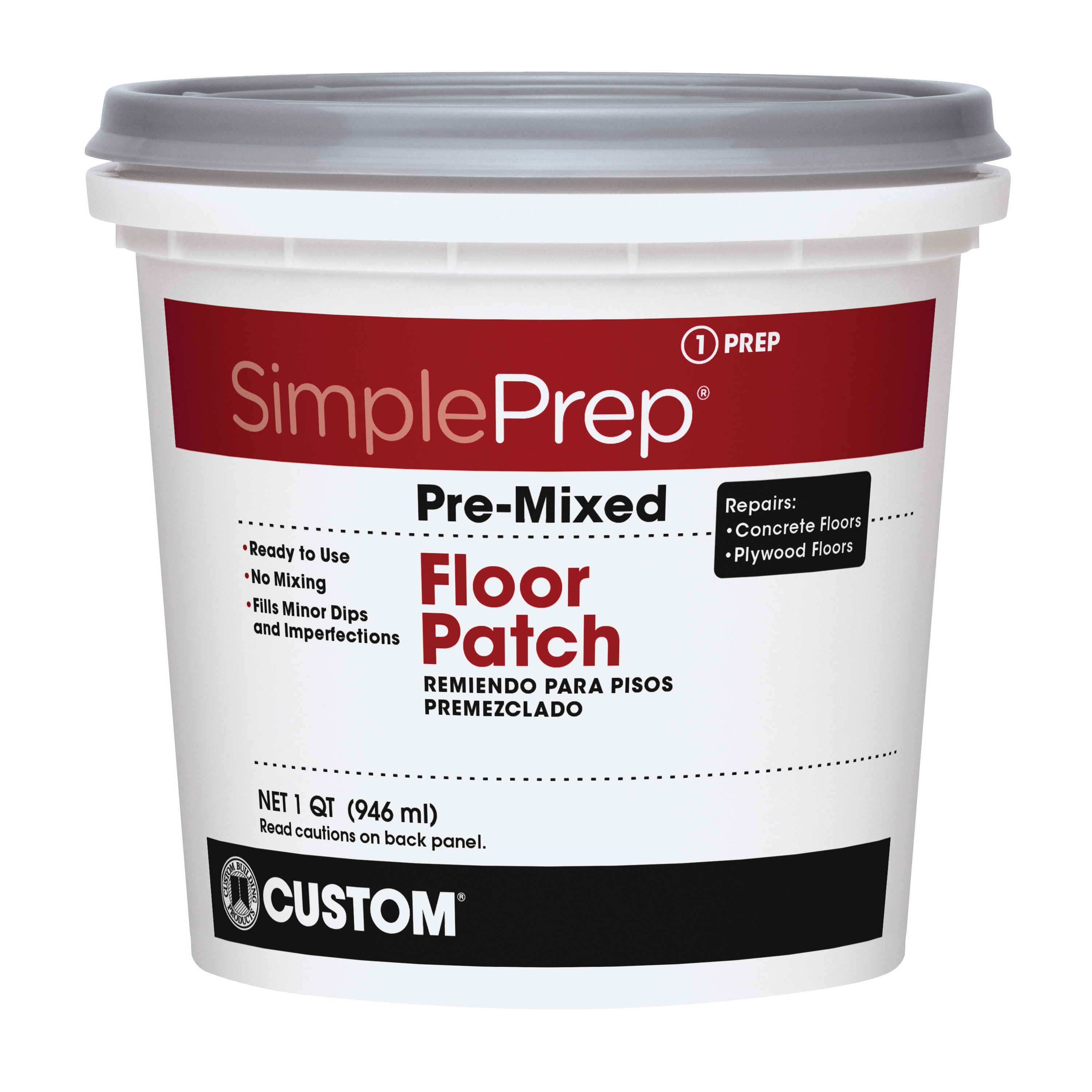 Picture of CUSTOM FPQT Pre Mixed Floor Patch, 1 qt Package, Pail
