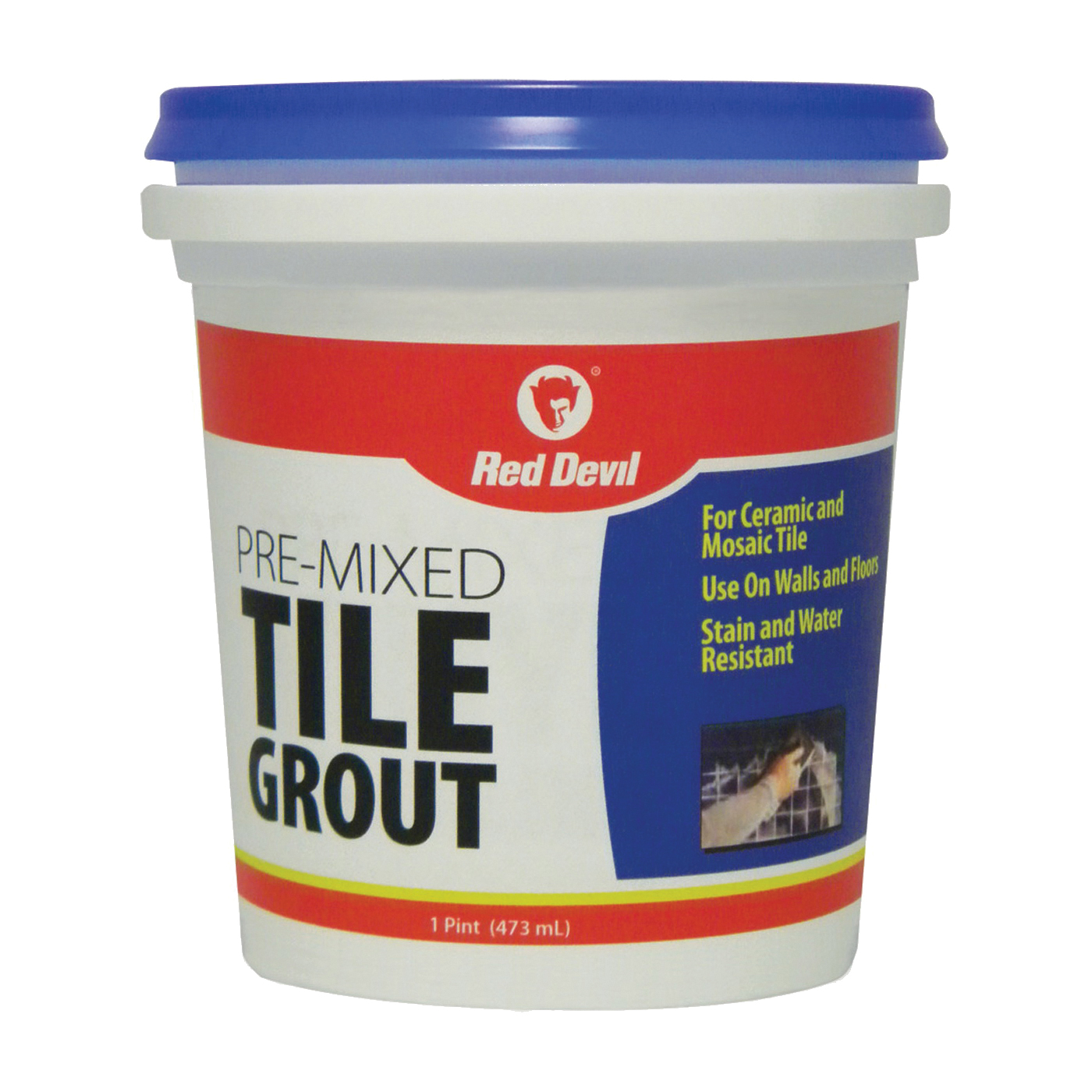 Picture of Red Devil 0428 Tile Grout, Paste, Ammonia, Mild Acrylic, White, 1 pt Package, Tub