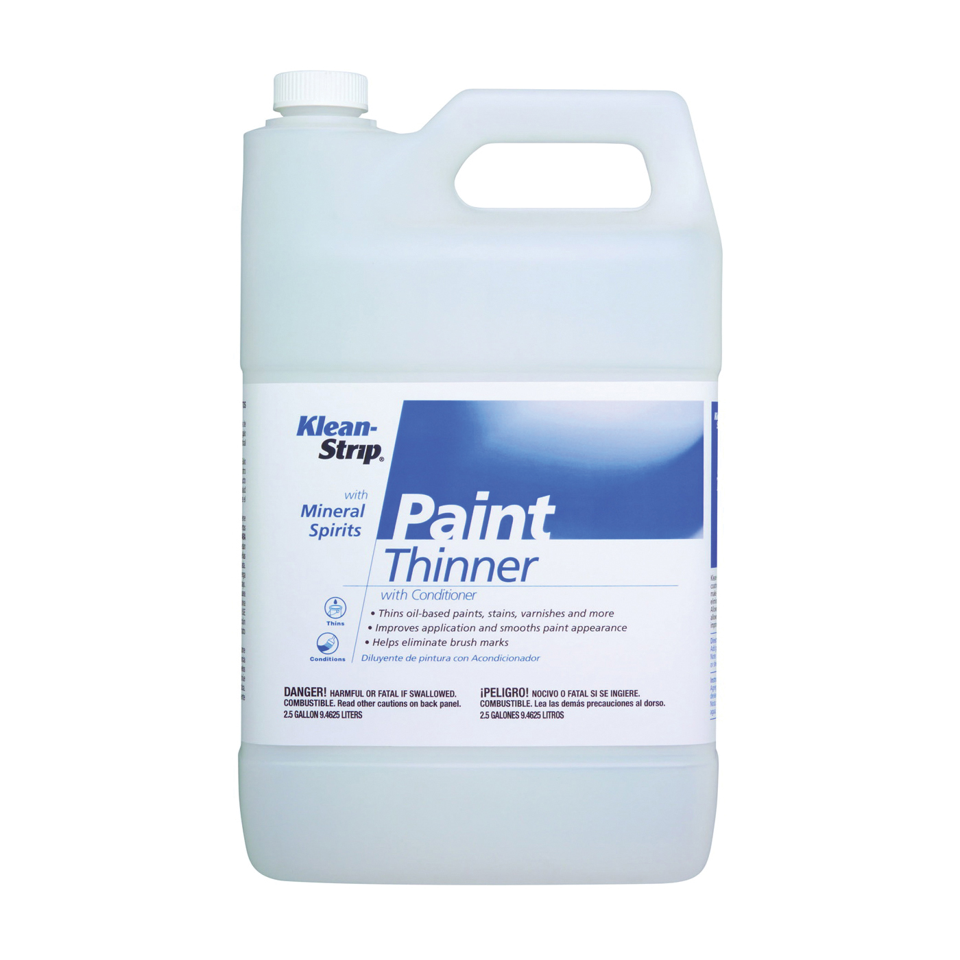 Picture of Klean Strip EKPT94401 Paint Thinner, Liquid, Free, Clear, Water White, 2.5 gal, Can