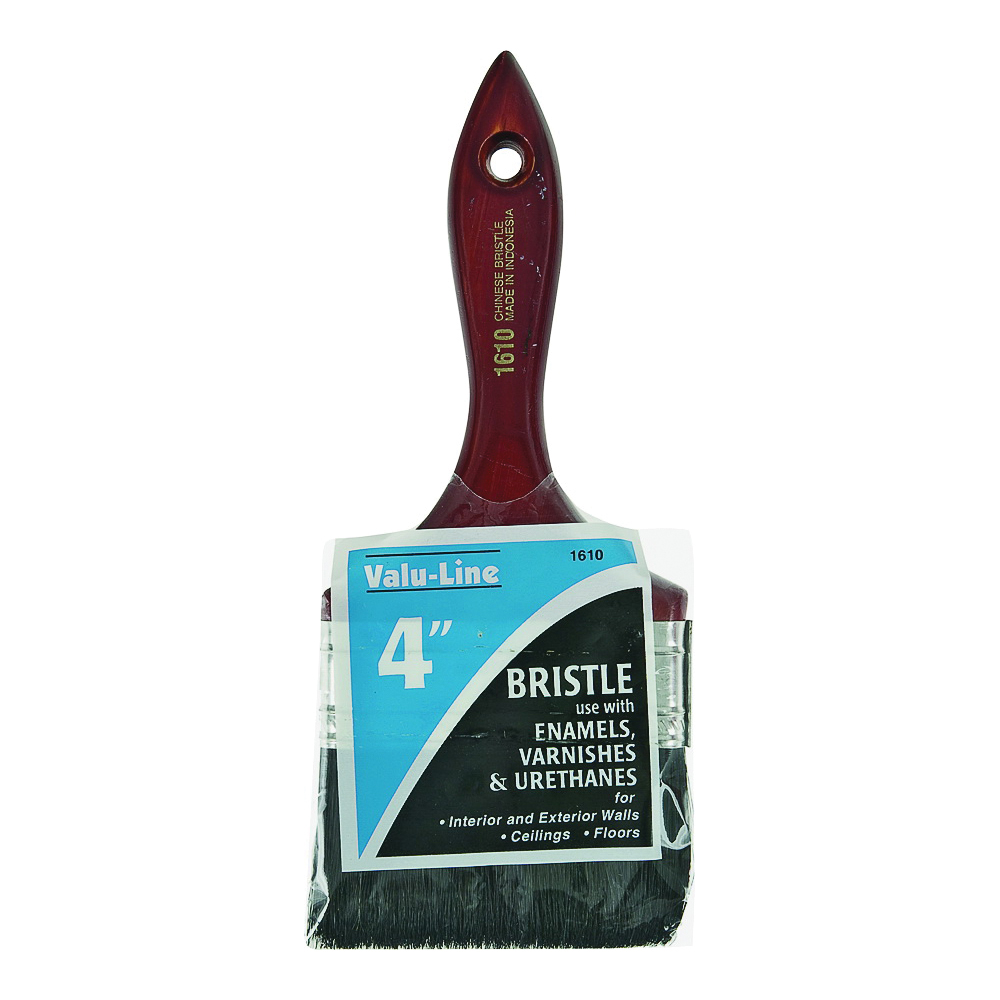 Picture of Linzer 1610-4 Varnish/Wall Brush, 4 in W, 2-1/2 in L Bristle, China Bristle, Varnish Handle