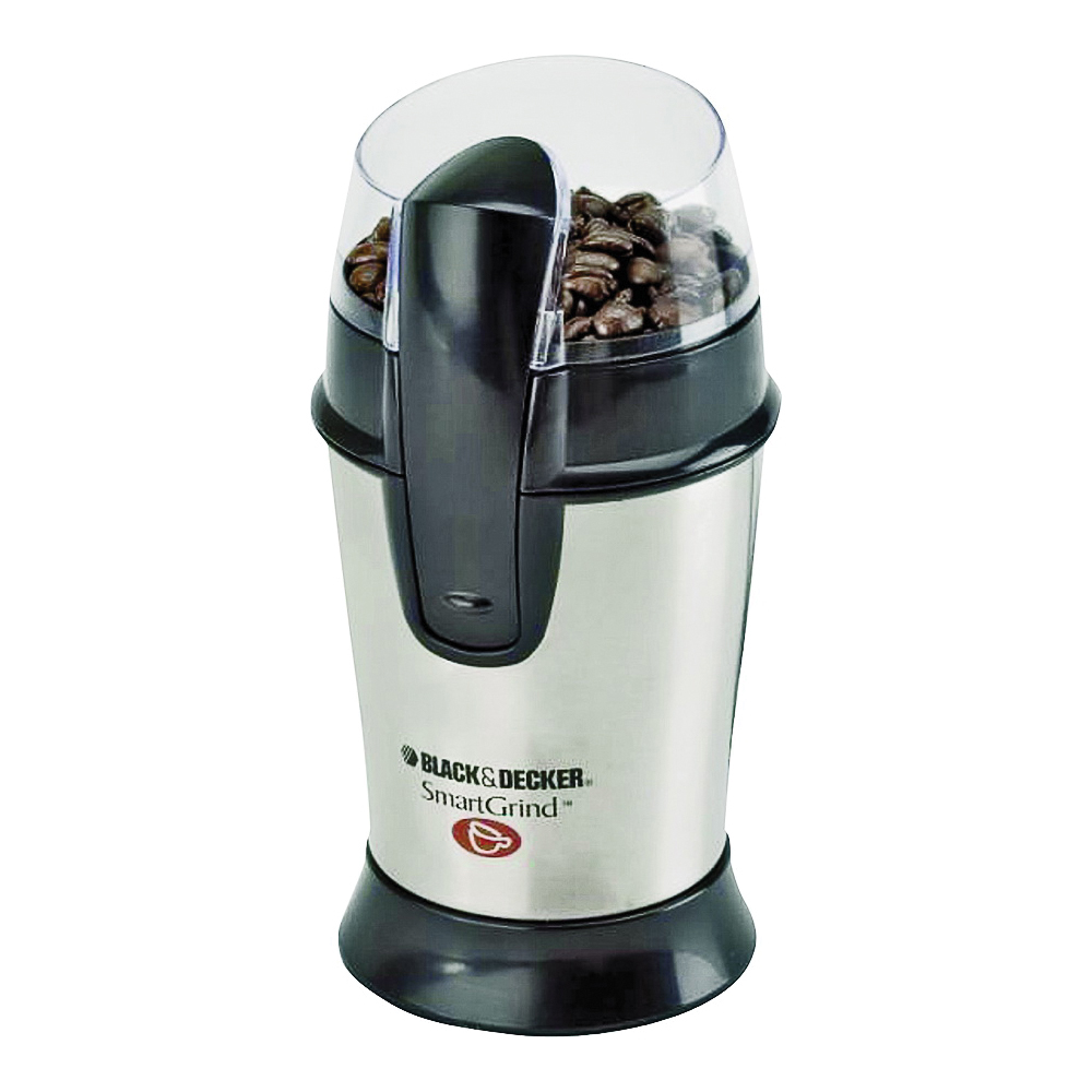 Picture of Black+Decker CBG100 Electric Coffee Grinder, Stainless Steel, Silver