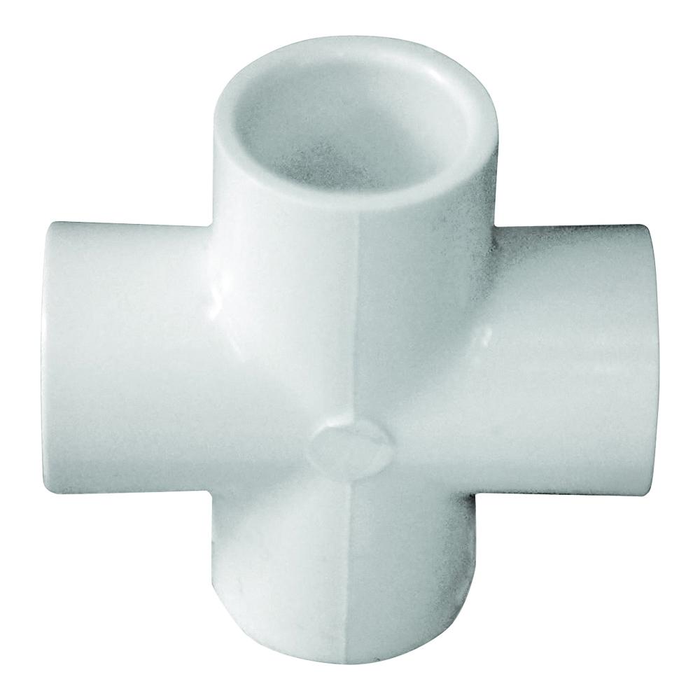 Picture of GENOVA 300 Series 34405 Pipe Cross, 1/2 in Slip Joint, White