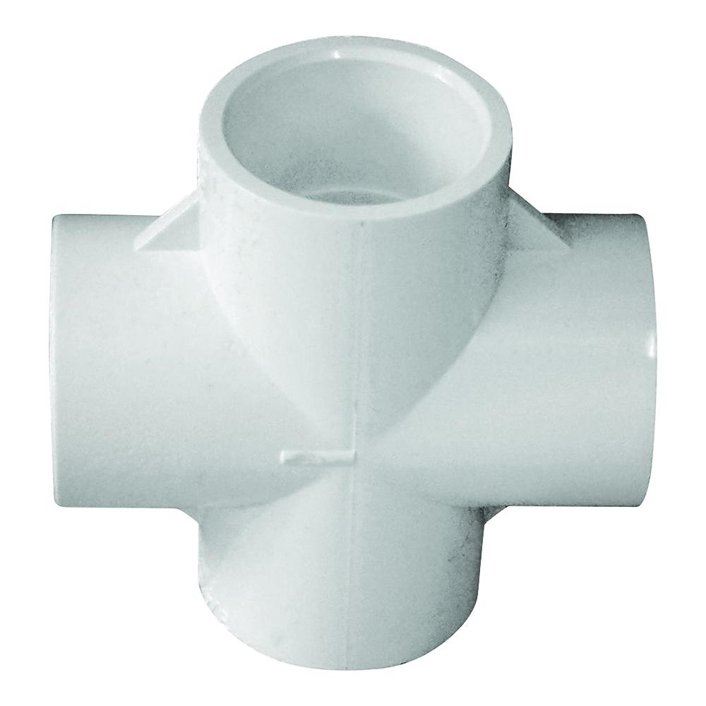 Picture of GENOVA 300 Series 34407 Pipe Cross, 3/4 in Slip Joint, White