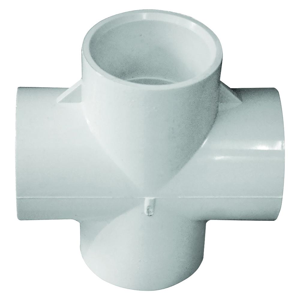 Picture of GENOVA 300 Series 34410 Pipe Cross, 1 in Slip Joint, 1 in Slip Joint, 1 in Slip Joint, 1 in Slip Joint, White