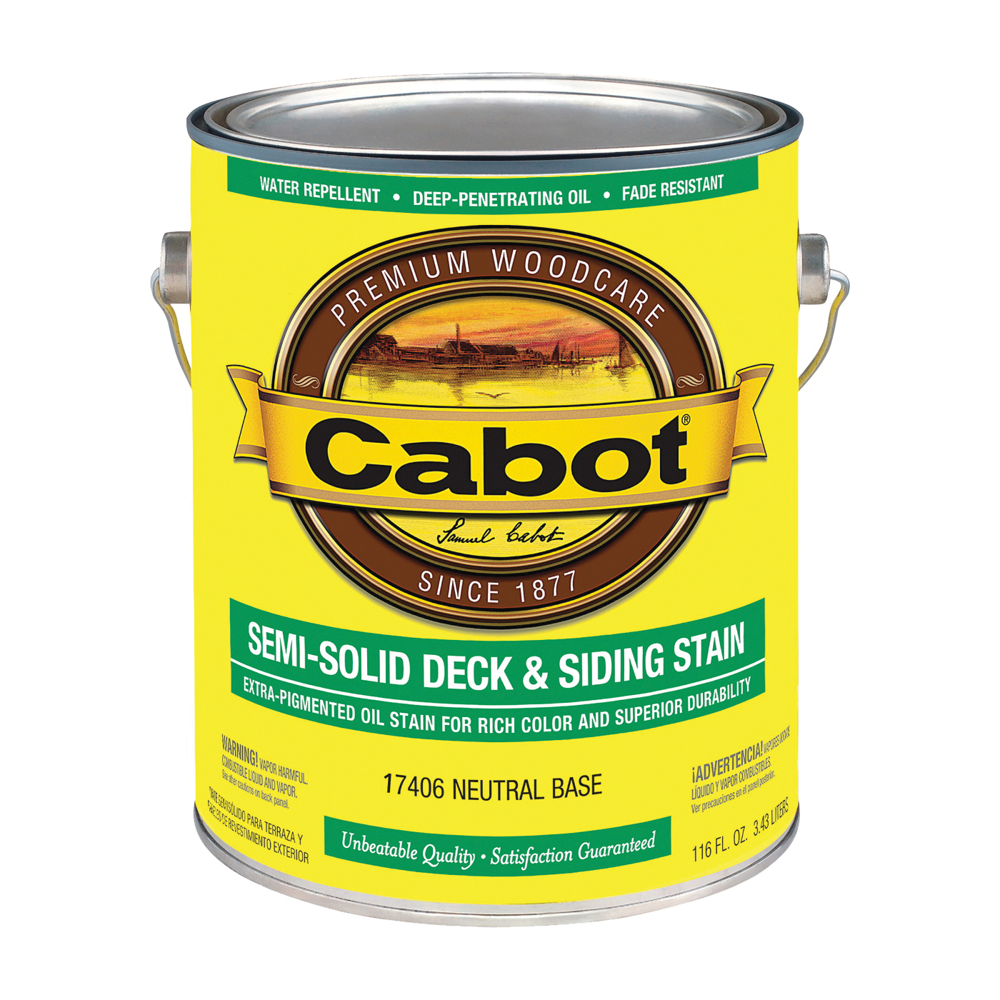 Picture of Cabot 17406 Deck and Siding Stain, Neutral Base, Liquid, 1 gal