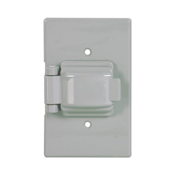 Picture of Eaton Wiring Devices S1961 Cover, 4-9/16 in L, 2-7/8 in W, Rectangular, Thermoplastic, Gray