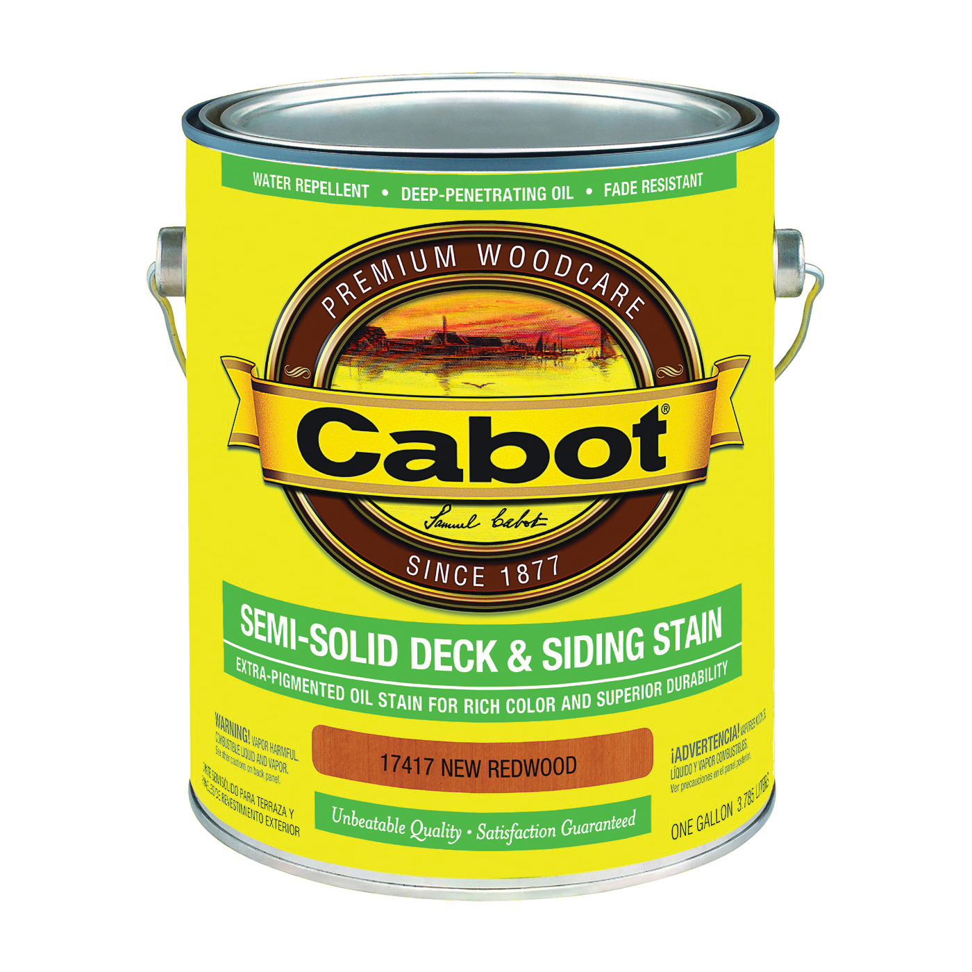 Picture of Cabot 17417 Deck and Siding Stain, New Redwood, Liquid, 1 gal