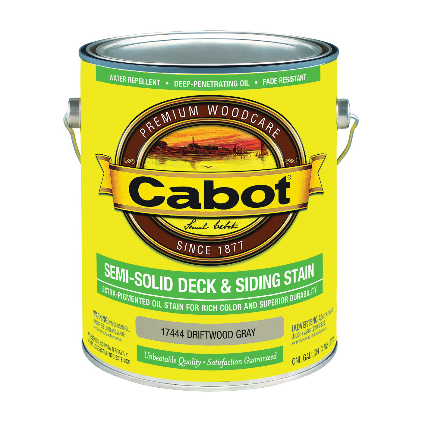 Picture of Cabot 17444 Deck and Siding Stain, Driftwood Gray, Liquid, 1 gal