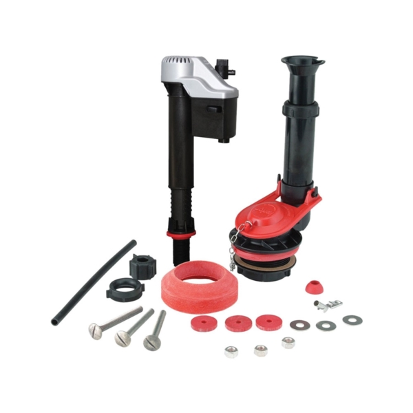 Picture of Korky 4010MP/PK Toilet Repair Kit, Plastic/Rubber, Black/Red, For: Fix Leaking, Noisy or Running Toilet in 1 Trip
