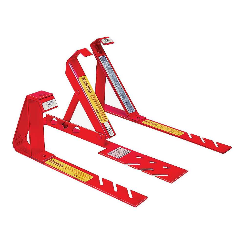 Picture of Qualcraft 2501 Fixed Roof Bracket, Adjustable, Steel, Red, Powder-Coated, For: 12/12 Fixed Pitch Roofs