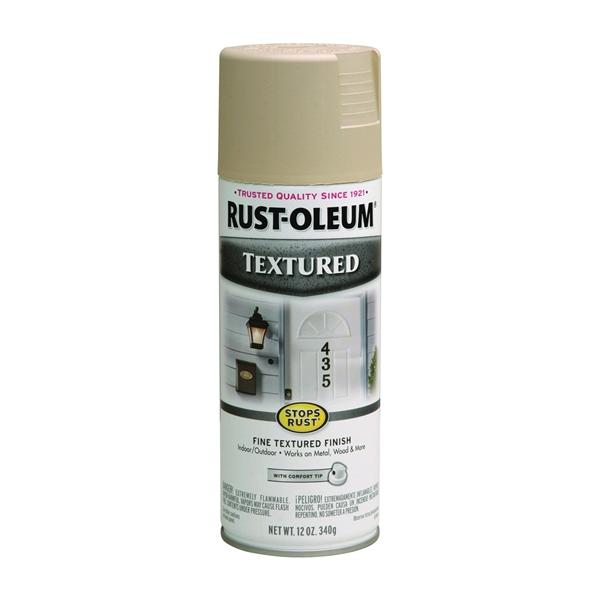 Picture of RUST-OLEUM STOPS RUST 7223830 Textured Spray Sandstone, Solvent-Like, Sandstone, 12 oz, Aerosol Can