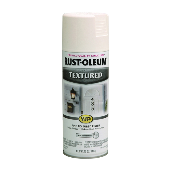Picture of RUST-OLEUM STOPS RUST 7225830 Textured Spray White, Solvent-Like, White, 12 oz, Aerosol Can