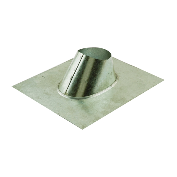 Picture of AmeriVent 4EF Roof Vent Flashing, 16-3/8 in OAL, 13-3/4 in OAW, Galvanized Steel