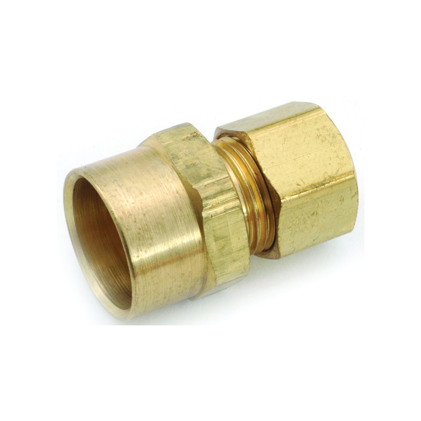 Picture of Anderson Metals 750086-0610 Tube Adapter, 3/8 x 5/8 in, Sweat x Compression, Brass