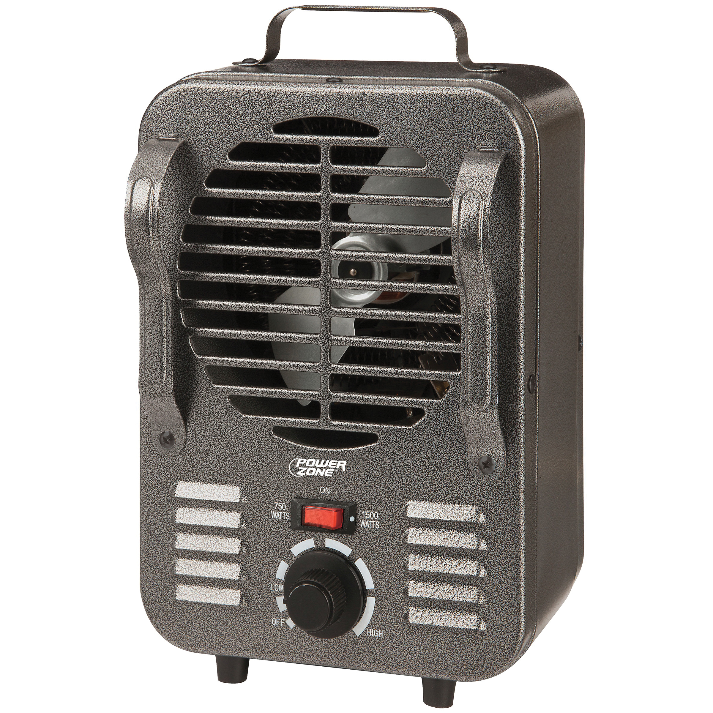 Picture of PowerZone TFH-204 Mini Milkhouse Heater 750/1500W Grey, 12.5 A, 120 V, 750/1500 W, 1500 W Heating, 2-Heating Stage