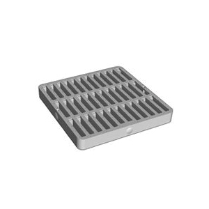 Picture of DrainTech 0902SDB Drain Grate, 9 in L, 9 in W, Square, 5/16 in Grate Opening, Polyethylene, Black