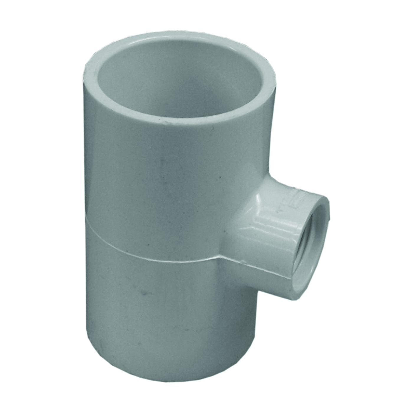 Picture of GENOVA 300 Series 31494 Pipe Reducing Tee, 1-1/2 in Run, Slip Run Connection, 3/4 in Branch, White