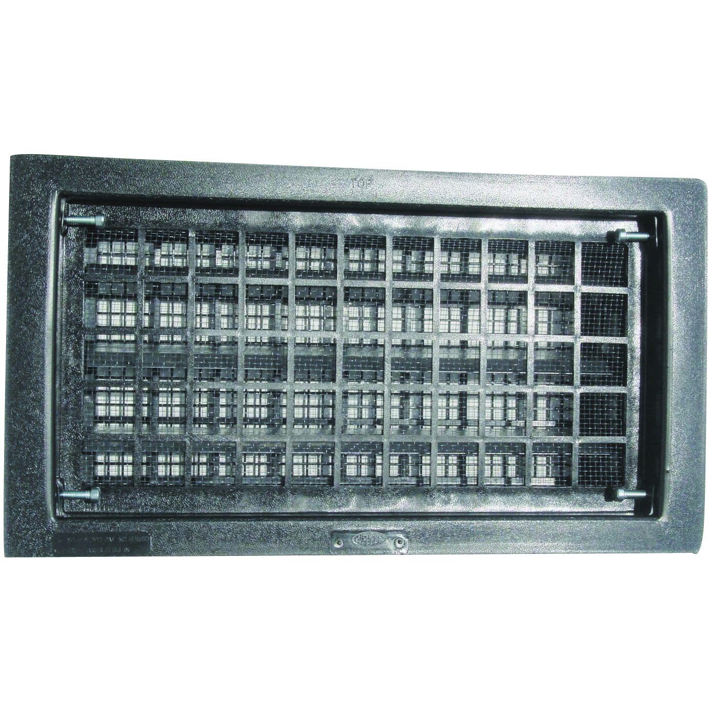 Picture of Bestvents 315CBL Foundation Vent, 62 sq-in Net Free Ventilating Area, Mesh Grill, Thermoplastic, Black Oxide