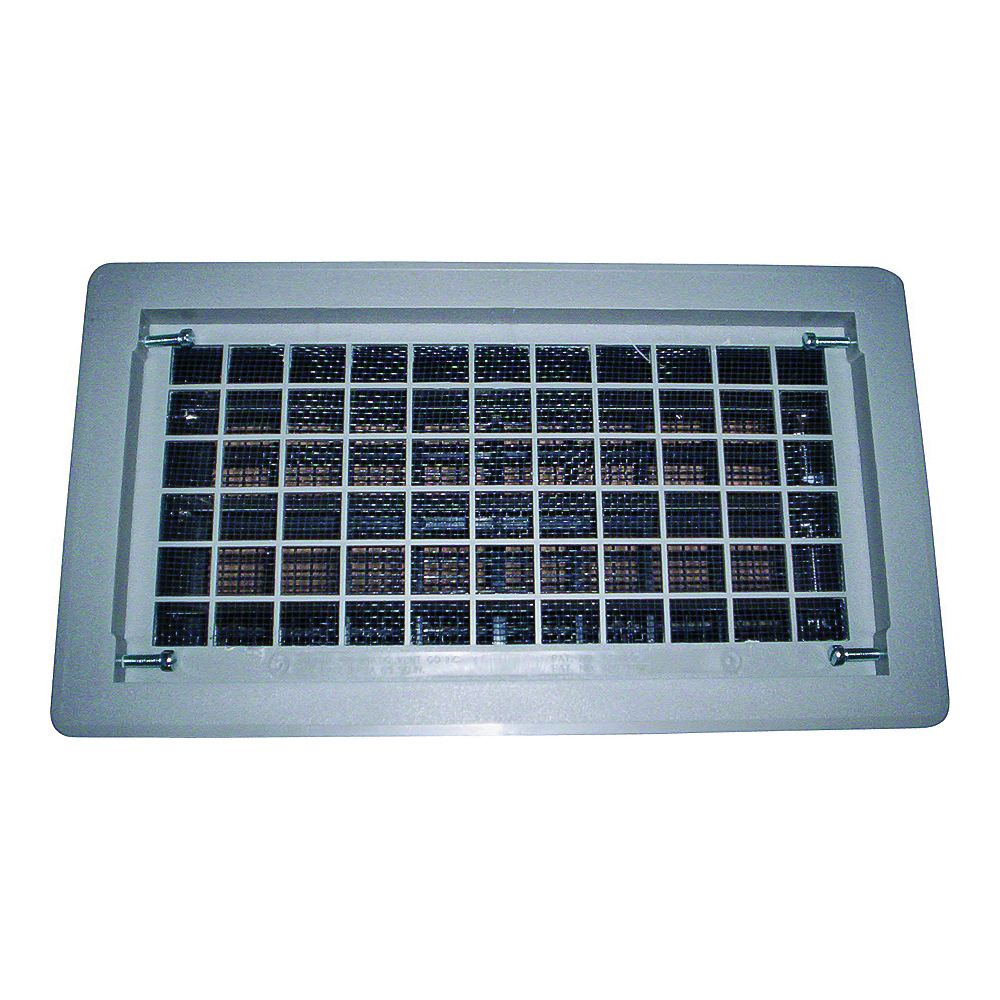 Picture of Bestvents 315CGR Foundation Vent, 62 sq-in Net Free Ventilating Area, Mesh Grill, Thermoplastic, Gray