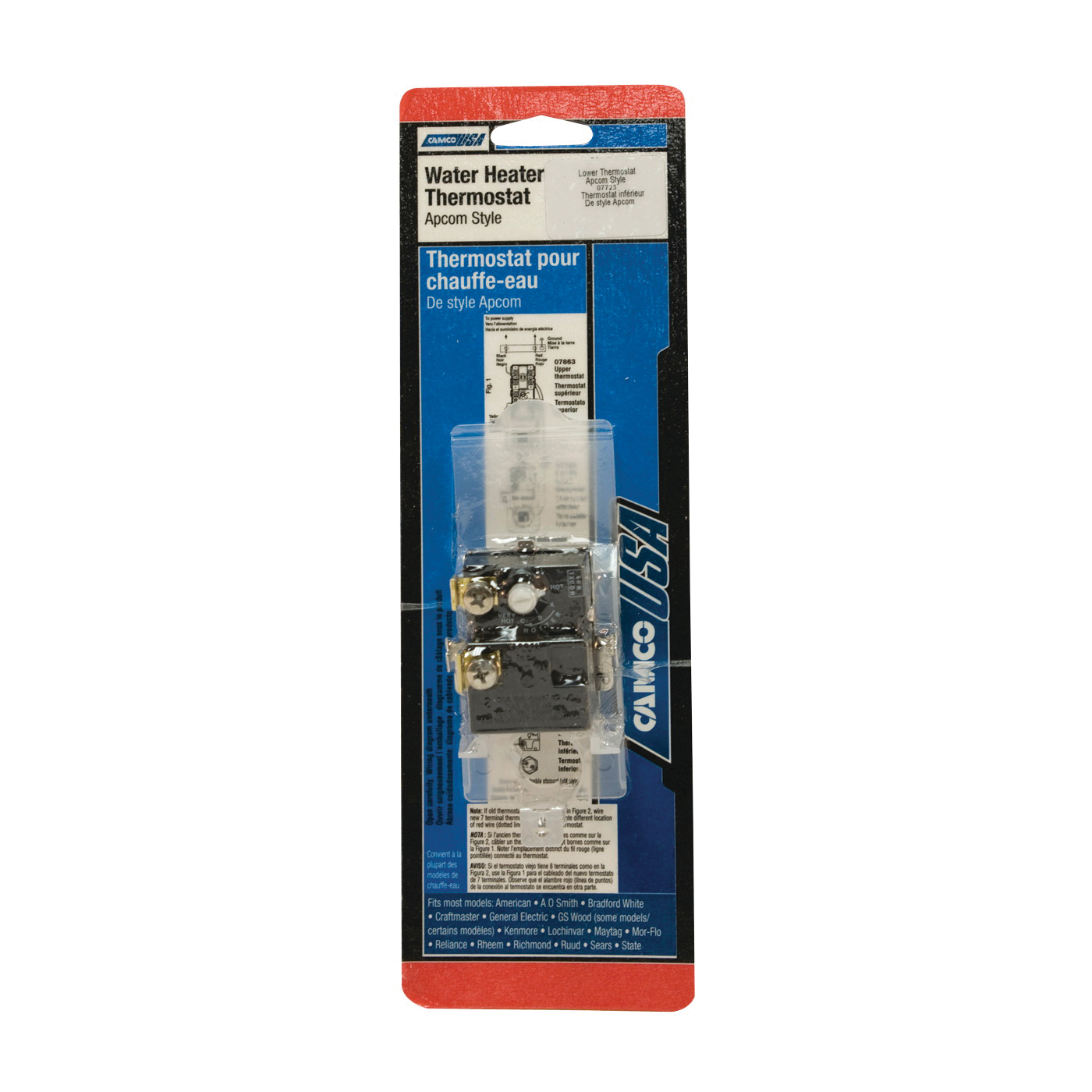 Picture of CAMCO 07723 Water Heater Thermostat, 240 V, 110 to 160 deg F
