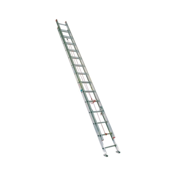 Picture of WERNER D1128-2 Extension Ladder, 27 ft H Reach, 200 lb, Aluminum