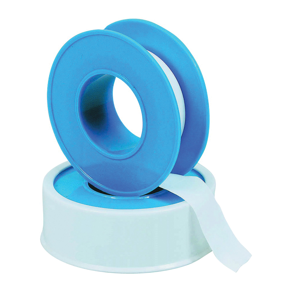 Picture of HARVEY 017072B-500 Thread Seal Tape, 260 in L, 1/2 in W, PTFE, Blue/White