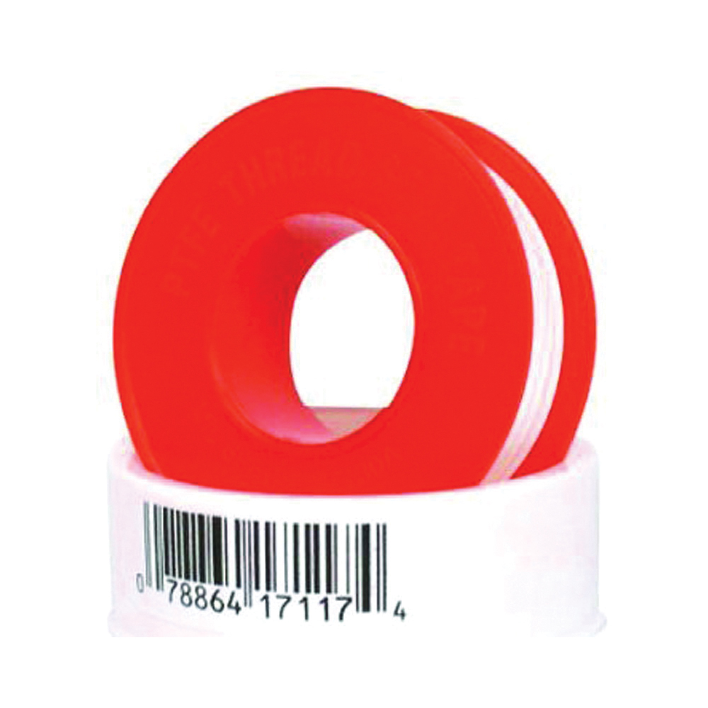 Picture of HARVEY 017117-500 Thread Seal Tape, 520 in L, 1/2 in W, PTFE, Red/White