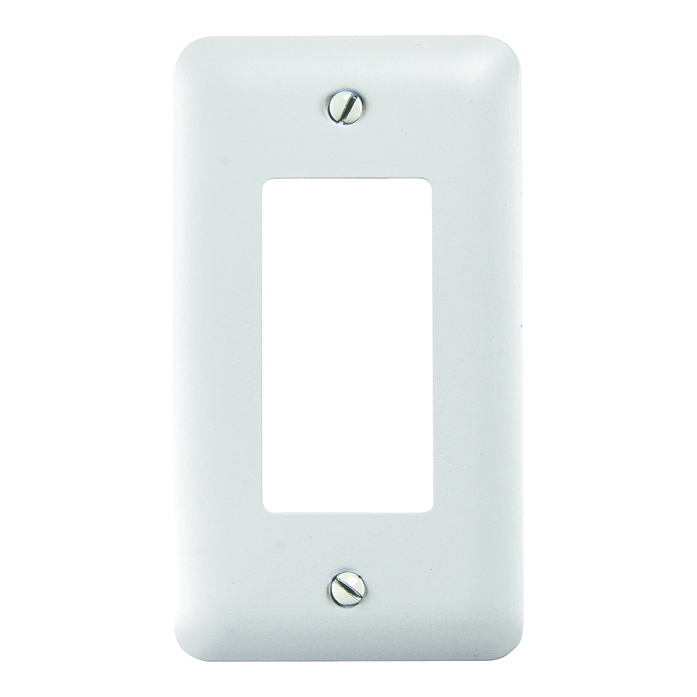 Picture of Amerelle 935RW Wallplate, 5 in L, 2-13/16 in W, 1-Gang, Steel, White