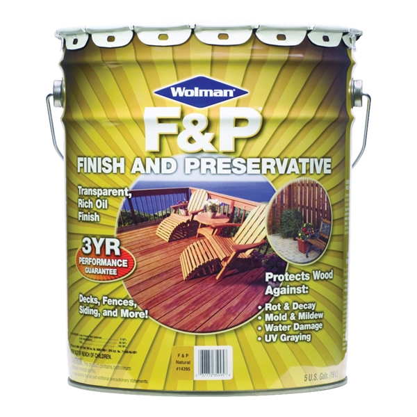 Picture of WOLMAN F&P 14405 Wood Preservative, Redwood, Liquid, 5 gal, Can