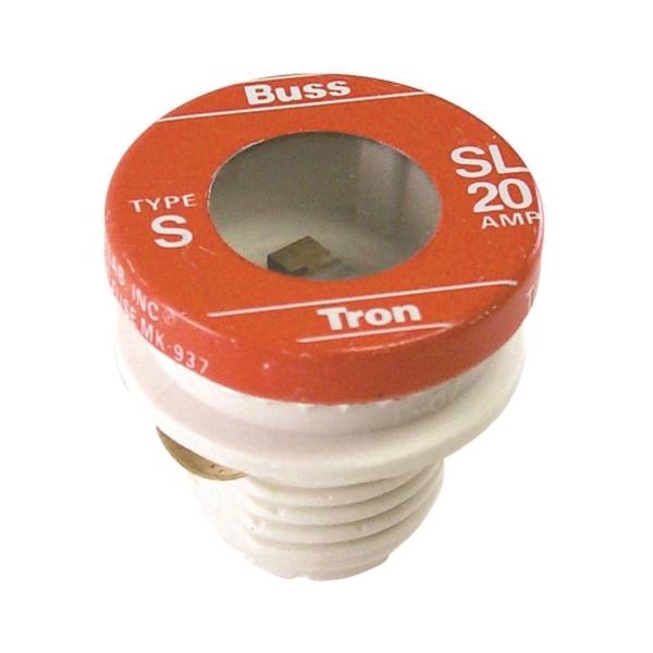 Picture of Bussmann BP/SL-20 Time-Delay Plug Fuse, 20 A, 125 V, 10 kA Interrupt