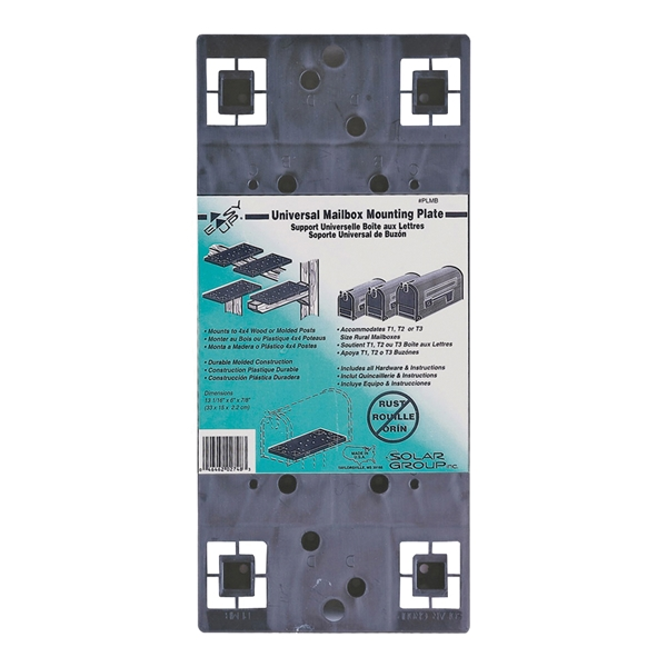 Picture of Gibraltar Mailboxes PLMB0060 Mailbox Mounting Board, Universal, Plastic, Black