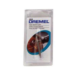 Picture of DREMEL 193 Cutter, 5/64 in Dia, 1-1/2 in L, 1/8 in Dia Shank, HSS
