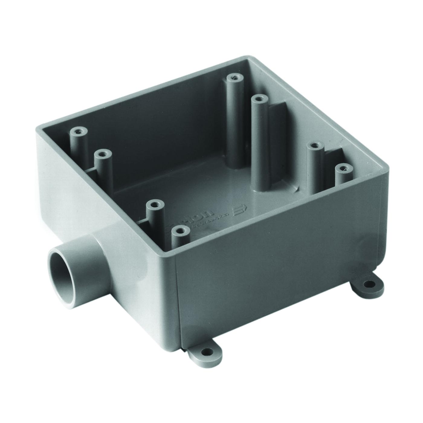Picture of Carlon E9802E-CTN Switch Box, 2-Gang, 1-Outlet, PVC, Gray